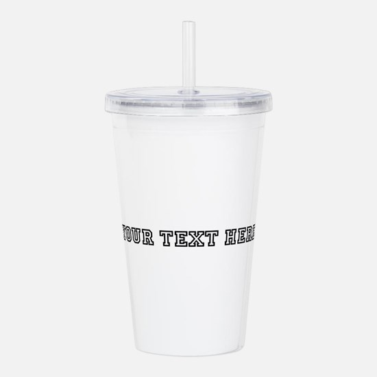 Personalised Template Acrylic Double-wall Tumbler