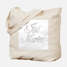 Classy Grays Just Married Tote Bag