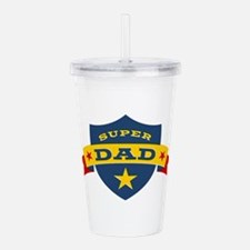 Super Dad Shield Acrylic Double-wall Tumbler