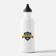 Super Dad Shield Water Bottle