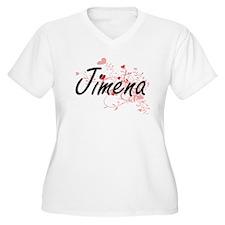 Jimena Artistic Name Design with Plus Size T-Shirt