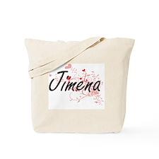 Jimena Artistic Name Design with Hearts Tote Bag