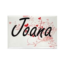 Joana Artistic Name Design with Hearts Magnets