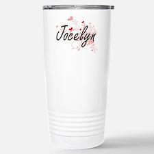 Jocelyn Artistic Name D Stainless Steel Travel Mug