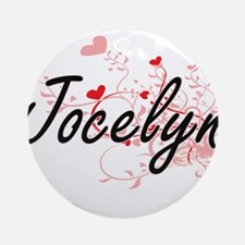 Jocelyn Artistic Name Design with Ornament (Round)