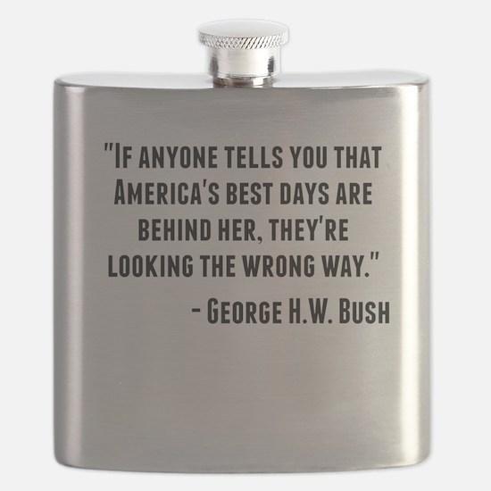 George H.W. Bush Quote Flask