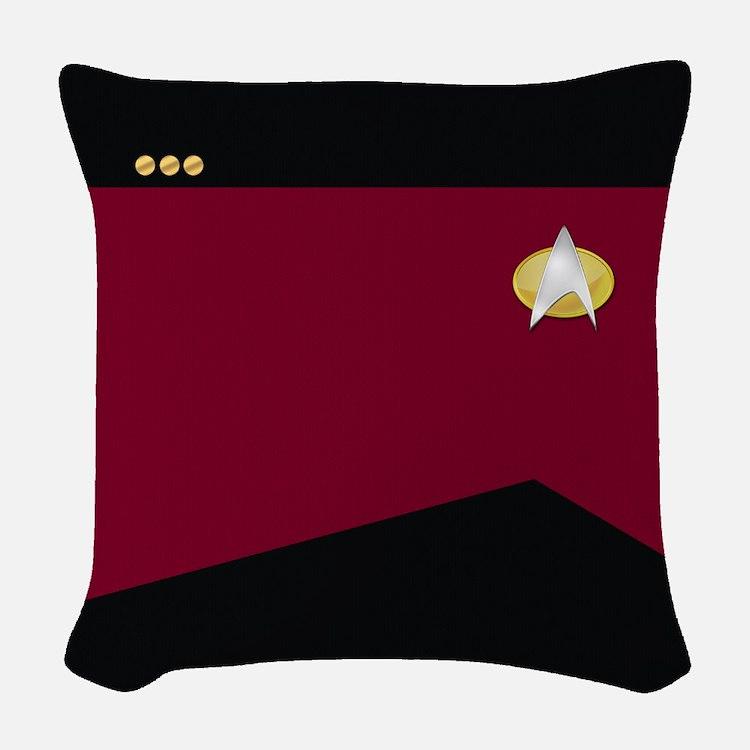 Star Trek: TNG Red Commander Woven Throw Pillow