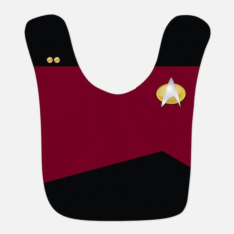 Star Trek:TNG Red Lieutenant Bib
