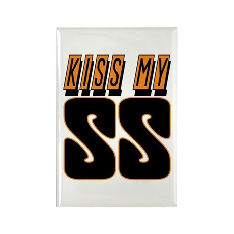 Kiss My SS Rectangle Magnet