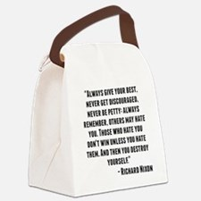Richard Nixon Quote Canvas Lunch Bag
