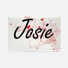 Josie Artistic Name Design with Hearts Magnets