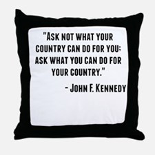 John F. Kennedy Quote Throw Pillow