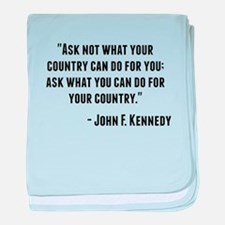 John F. Kennedy Quote baby blanket