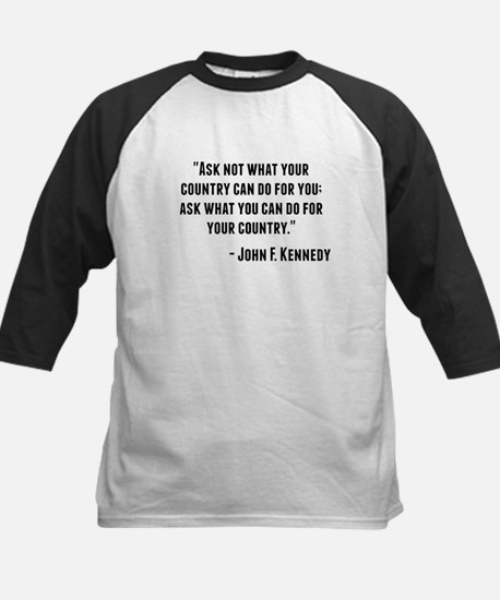 John F. Kennedy Quote Baseball Jersey