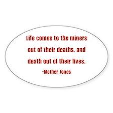 Mother Jones Oval Decal