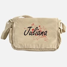 Juliana Artistic Name Design with He Messenger Bag