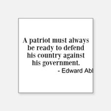 A Patriot Sticker