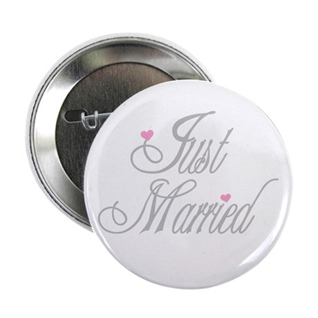 "Classy Grays Just Married 2.25"" Button (10 pack)"
