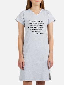 Harry Truman Quote Women's Nightshirt