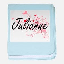 Julianne Artistic Name Design with He baby blanket