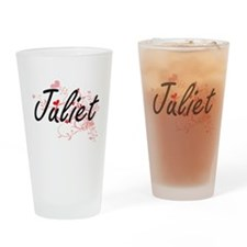 Juliet Artistic Name Design with He Drinking Glass