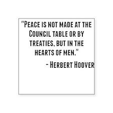 Herbert Hoover Quote Sticker