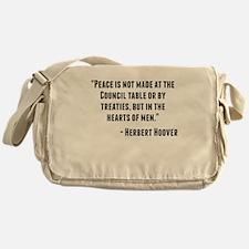 Herbert Hoover Quote Messenger Bag
