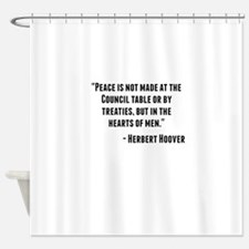 Herbert Hoover Quote Shower Curtain
