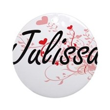 Julissa Artistic Name Design with Ornament (Round)