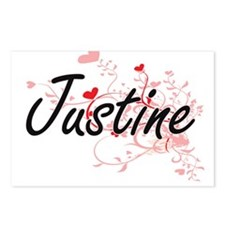 Justine Artistic Name Des Postcards (Package of 8)