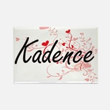 Kadence Artistic Name Design with Hearts Magnets