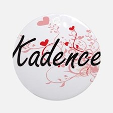 Kadence Artistic Name Design with Ornament (Round)