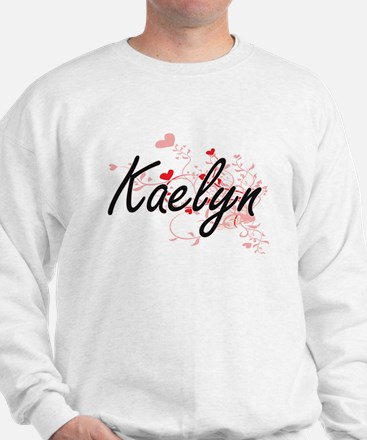Kaelyn Artistic Name Design with Hearts Sweater