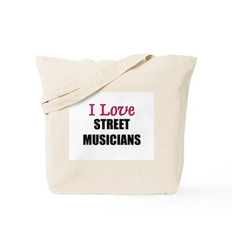 I Love STREET ARTISTS Tote Bag