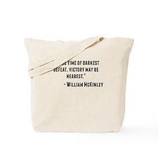 William McKinley Quote Tote Bag