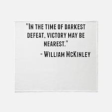 William McKinley Quote Throw Blanket