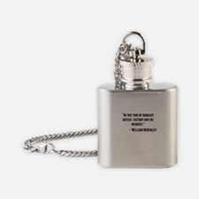 William McKinley Quote Flask Necklace