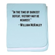 William McKinley Quote baby blanket
