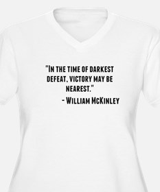 William McKinley Quote Plus Size T-Shirt