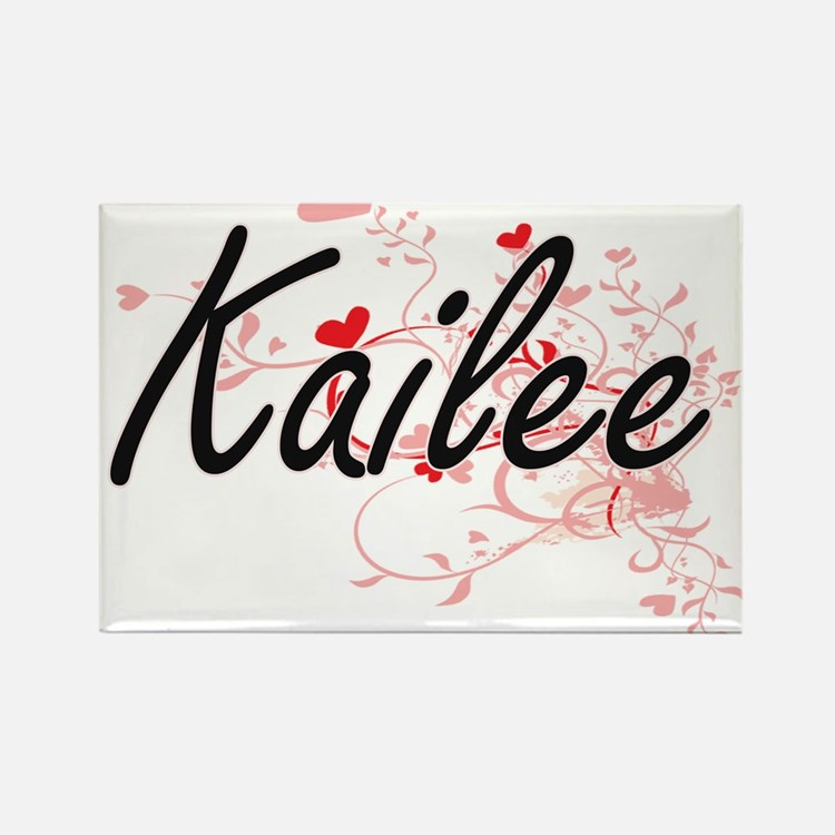 Kailee Artistic Name Design with Hearts Magnets