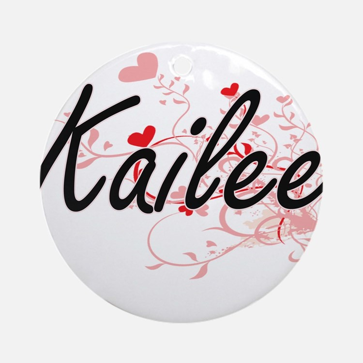 Kailee Artistic Name Design with Ornament (Round)