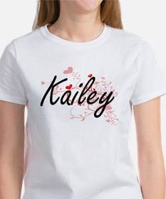 Kailey Artistic Name Design with Hearts T-Shirt