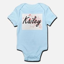 Kailey Artistic Name Design with Hearts Body Suit