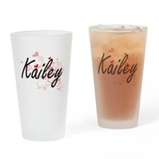 Kailey Artistic Name Design with He Drinking Glass