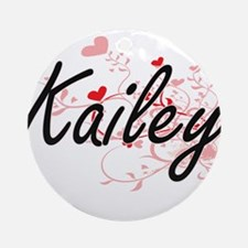 Kailey Artistic Name Design with Ornament (Round)