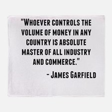 James Garfield Quote Throw Blanket