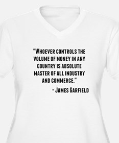 James Garfield Quote Plus Size T-Shirt