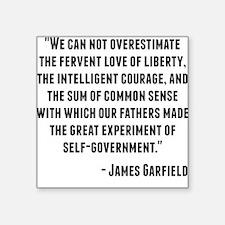 James Garfield Quote Sticker