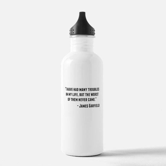 James Garfield Quote Water Bottle