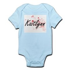 Kaitlynn Artistic Name Design with Heart Body Suit